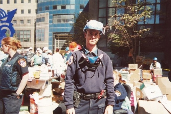 James Creedon, working as a New York City paramedic in the days following the Sept. 11, 2001, terrorist attacks. (Courtesy of James Creedon)