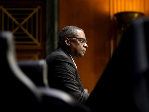 Defense Secretary Lloyd Austin has made ending sexual misconduct a top priority. (Greg Nash-Pool/Getty Images)