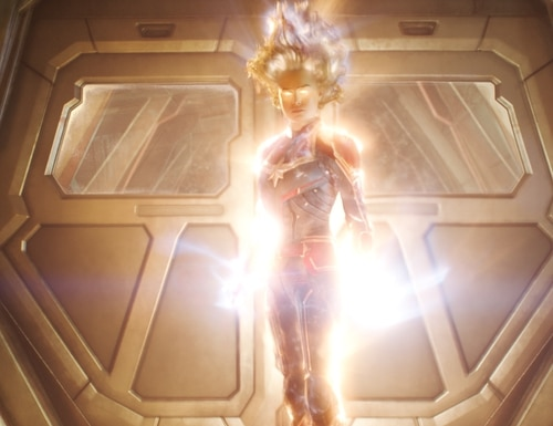 Air Force pilot Carol Danvers unleashes the full extent of her powers in Captain Marvel. (Marvel Studios)
