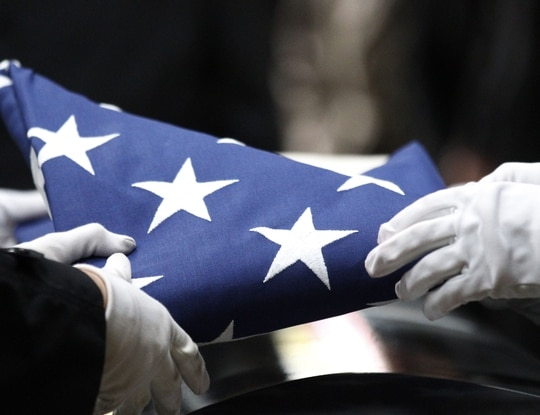 Capt. (Dr.) Kelliann Leli, 30, died Nov. 27 in a non-combat-related vehicle incident at Al Dhafra Air Base, United Arab Emirates. She had deployed from Travis Air Force Base, California.. (AP Photo/Rick Bowmer)