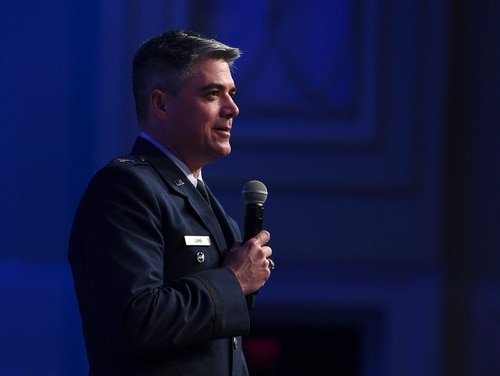 Col. Jason Lamb, the Air Education and Training Command intelligence officer known for his provocative essays on leadership, written under the pseudonym