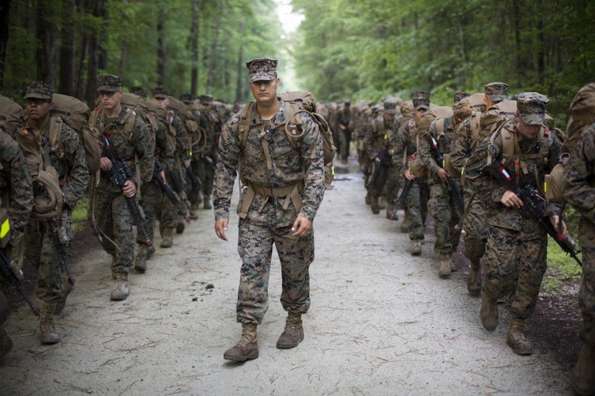 895e94b5562 Marines will now wear woodland green camouflage uniforms all year