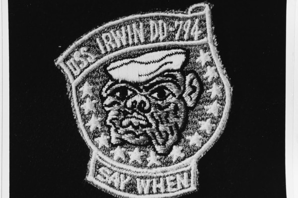 The emblem for the destroyer Irwin in 1958. (Navy)