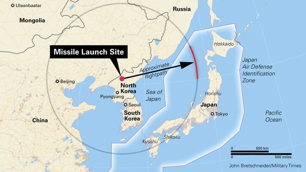 North Korea May Have Just Shown A Capability To Strike The - Japan map missile