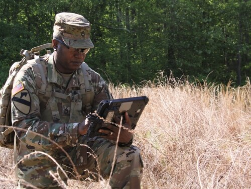The Army and Air Force are starting to partner on building common frameworks for networks and communications systems. . (Dan LaFontaine/U.S. Army)