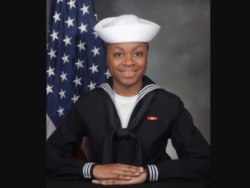 Seaman Recruit Kierra Evans, 20, died on Feb. 22 following physical training at Recruit Training Command in Great Lakes, Illinois. (Photo courtesy McFarland Funeral Companies)