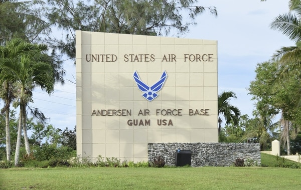 An airman at Andersen Air Force Base in Guam was found dead early on March 27. (File)