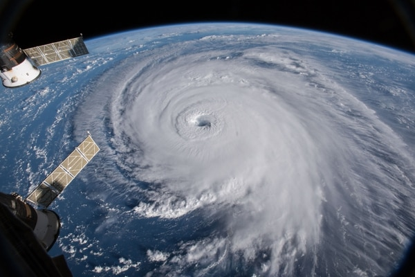 Astronaut Ricky Arnold photographed Hurricane Florence from the International Space Station on Sept. 10, 2018.