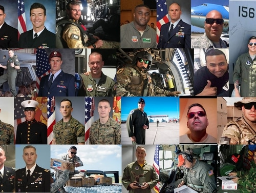 The May 2, 2018, crash of a Puerto Rico Air National Guard WC-130 in Georgia, which killed nine service members, brings the total number of military aviation deaths to 25 since March. (Military Times composite photo. Puerto Rico Guardsmen photos courtesy of David E. Rivera)