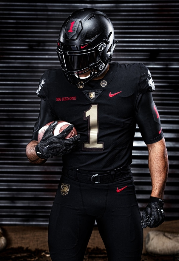 Army's uniform for Dec. 8's tilt against rival Navy honors the 1st Infantry Division. (Army West Point Athletics)