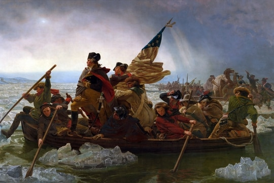 Washington Crossing the Delaware by Emanuel Leutze. (Wikimedia Commons)