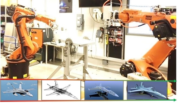 The Strategic Capabilities Office JARVIS project will use robots, similar to those depicted, to conduct autonomous precision drilling, as part of the Palladium program, aimed at conducting smarter sustainment. (SCO)