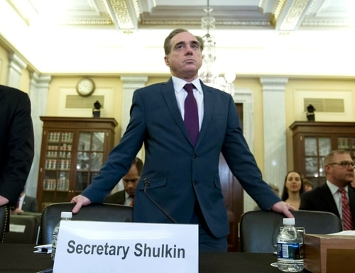Veterans Affairs Secretary David Shulkin arrives to testify on veterans programs before the Senate Committee on Veterans Affairs at Capitol Hill, Wednesday, March 21, 2018, in Washington. (Jose Luis Magana/AP)
