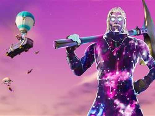 Samsung offers Fortnite with Ninja in the company's exclusive Galaxy skin. (AP)