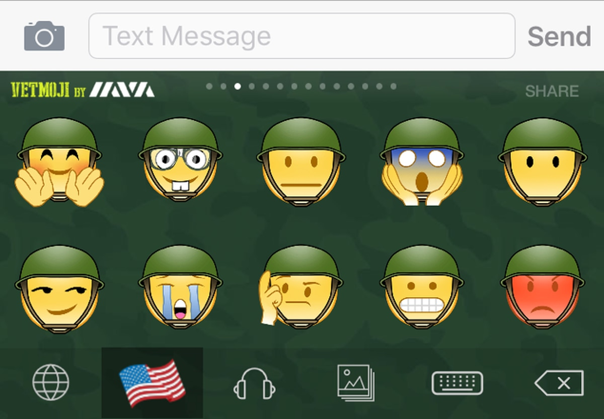 Send military-themed emojis with IAVA's new Vetmoji app
