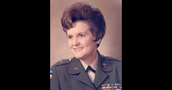Brig. Gen. Anna Mae Hays became the first woman and the first nurse in American military history to attain the rank of general officer. (Pfc. Lyndsey Prax/Army)