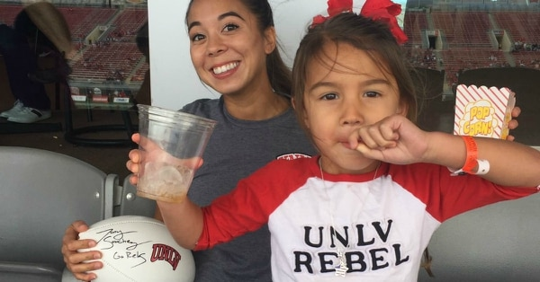 Alexandria Sawin said being a mom to 4-year-old Isabelle has taught her time management skills and patience that has helped her become a successful college student. (Alexandria Sawin)