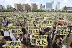 Massive protest on Okinawa opposes U.S. military after killing