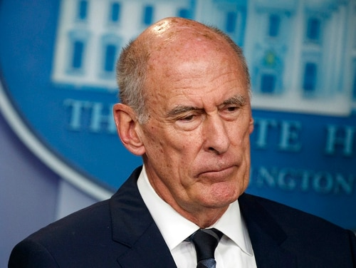 In this Aug. 2, 2018, file photo, Director of National Intelligence Dan Coats listens during a daily press briefing at the White House in Washington. (Evan Vucci/AP)