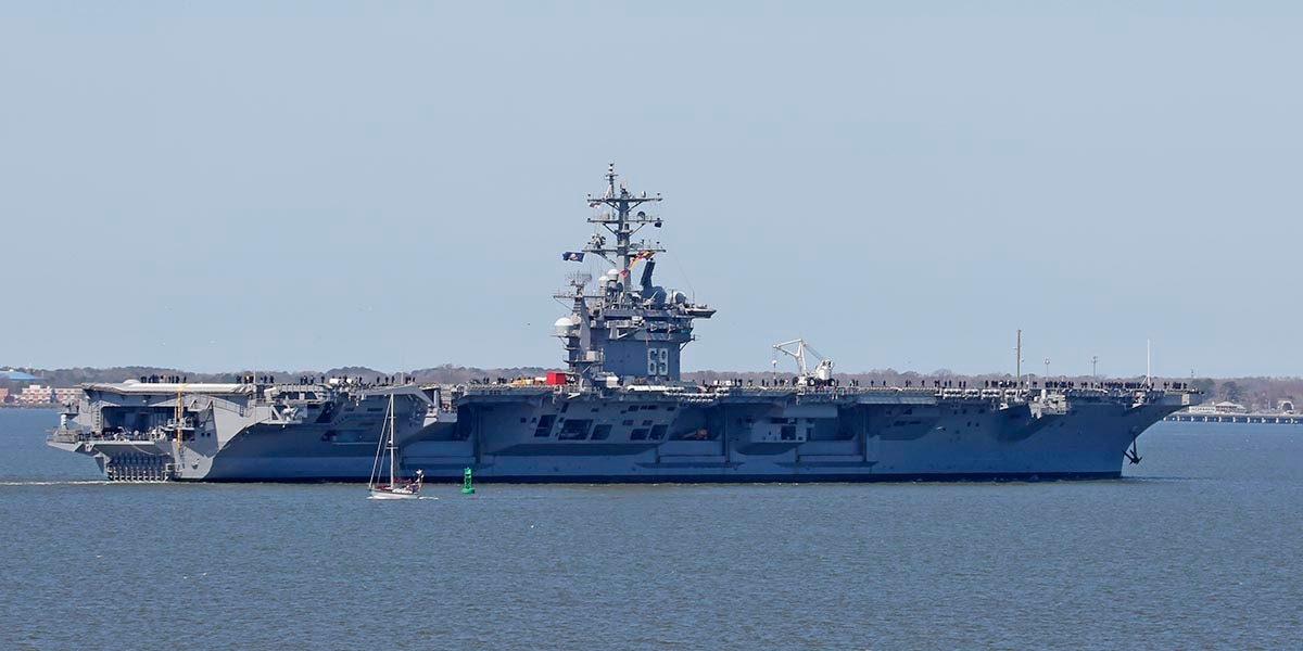Why two carriers left Norfolk just hours apart