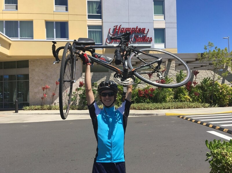 After completing his cancer treatment, Caleb Pipes and his dad, Army Col. Greg Pipes, rode around the island of Oahu on a 135-mile, three-day bike ride. (Courtesy of Operation Homefront)