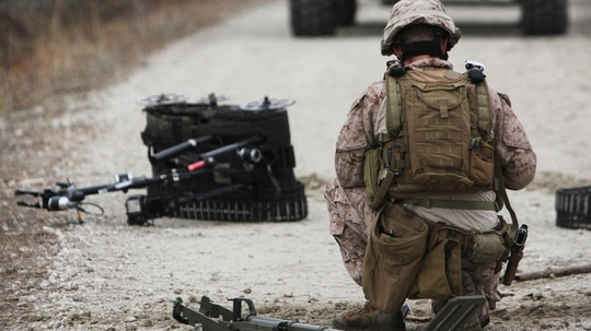 Robots are already part of the everyday function of the military. The Department of Defense's new roadmap sketches out a future where the drones are ubiquitous. (Devin Nichols, Marine Corps)