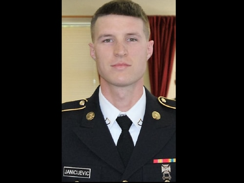 Spc. Nemanja Janicijevic, 25, died April 12, 2018, during a PT session at Fort Lee, Va. Janicijevic joined the military under the MAVNI program. (Army)