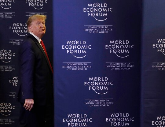President Donald Trump a news conference at the World Economic Forum in Davos, Switzerland on Jan. 22, 2020. During the event, Trump characterized injuries to U.S. troops from an Iranian rocket attack as