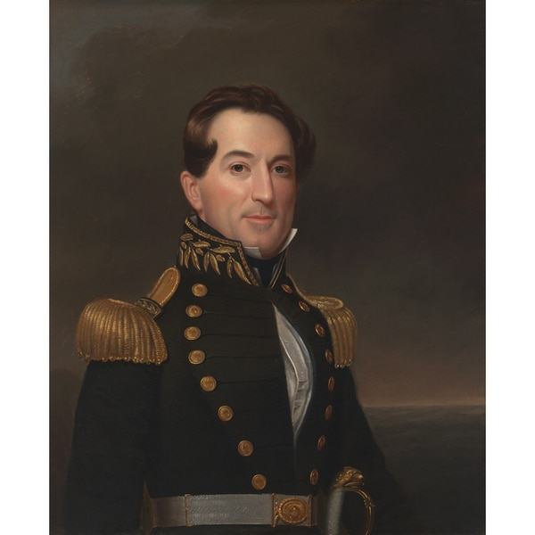 David Glasgow Farragut, 5 Jul 1801 - 15 Aug 1870 (Portrait by William Swain, 1838, now in the National Portrait Gallery, Smithsonian Institution; transfer from the National Museum of American History; gift of the Estate of Loyall Farragut to the United States National Museum, 1917)