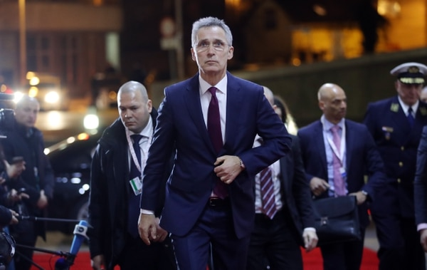 NATO Secretary General Jens Stoltenberg arrives for a meeting with European Union defense ministers on March 4, 2020. Christine Wormuth has expressed a desire to push NATO allies on the target to spend 2 percent GDP on defense. (Damir Sencar/AFP via Getty Images)
