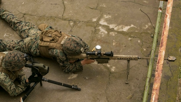 "The Marine Corps argues that it has a ""sufficient ­inventory of scout snipers to consistently meet its operational ­requirements and accomplish its mission."" (Cpl. Abrey Liggins/Marine Corps)"