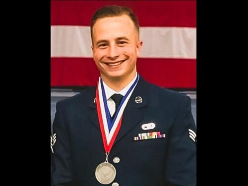 Staff Sgt. Ronald J. Ouelette, 42nd Aerial Port Squadron member, of Merrimack, New Hampshire, died in a single all-terrain-vehicle non-combat related accident on the flightline at Ali Al Salem Air Base, Kuwait, Sept. 14, 2020. (Courtesy Westover Air Reserve Base)
