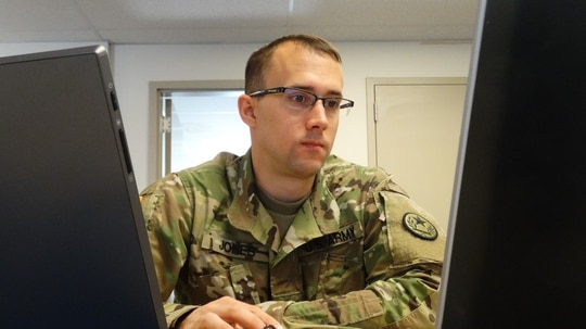 The Army is working on information operations integration with other capabilities such as cyber and electronic warfare. (Maj. Ray McCulloch/Army)