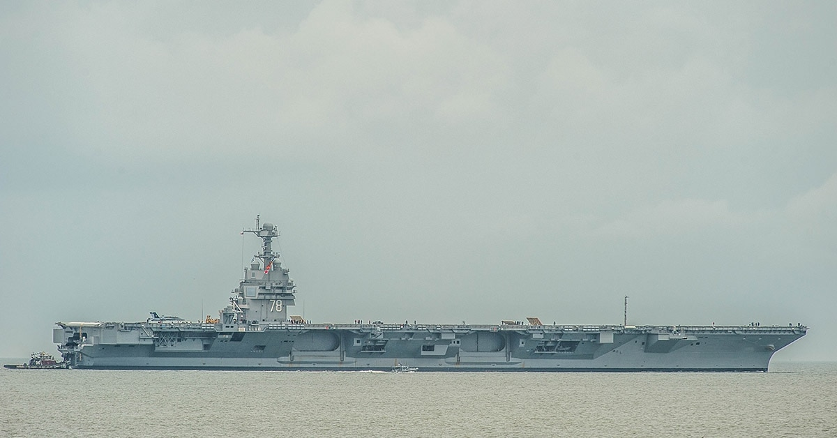 Why the Navy's newest aircraft carrier was forced back into port