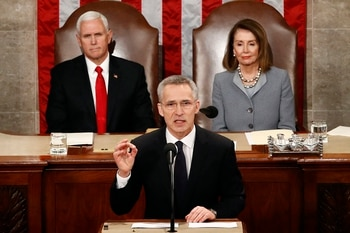 NATO chief faces alliance's fractures and foes in address to Congress