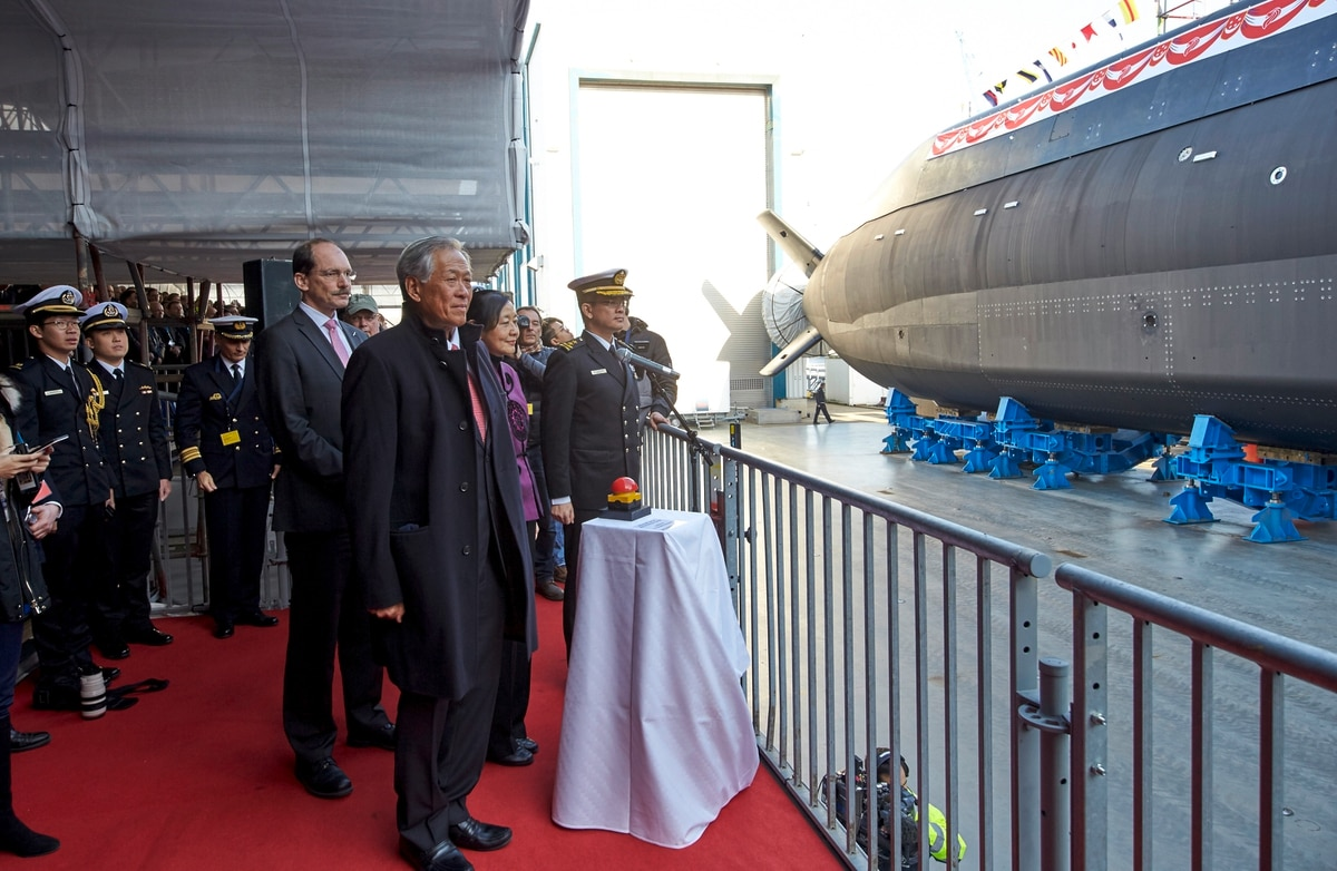 Singapore's first new submarine christened at Thyssenkrupp