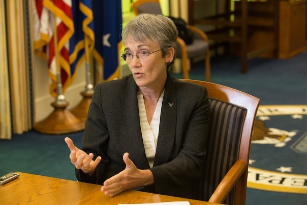 Heather Wilson, secretary of the U.S. Air Force, during an editorial board in her office at the Pentagon on Aug. 31, 2017. (Alan Lessig/Staff)