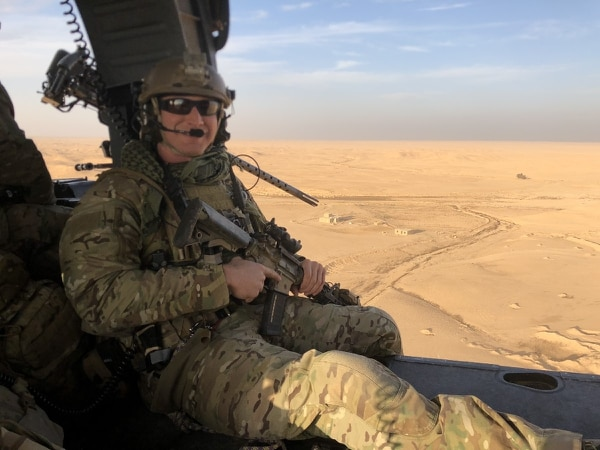 Staff Sgt. Carl Enis, a pararescueman with the 308th Rescue Squadron at Patrick Air Force Base in Florida, was one of seven service members killed in the crash of an HH-60 Pave Hawk in Anbar Province, Iraq, Thursday evening. (Courtesy)
