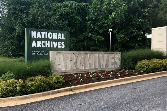 The National Archives and Records Administration in Bethesda, Md. (Michael Kunzelman/AP)