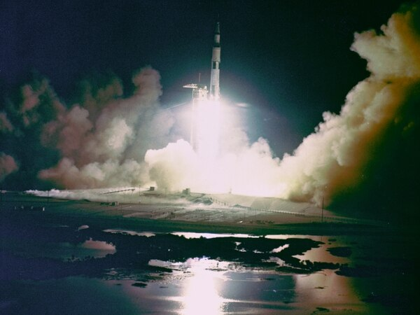 Apollo 17, the final lunar landing mission, was the first and only night launch of a Saturn V rocket developed by NASA's Marshall Space Flight Center in Huntsville, Alabama. (NASA)