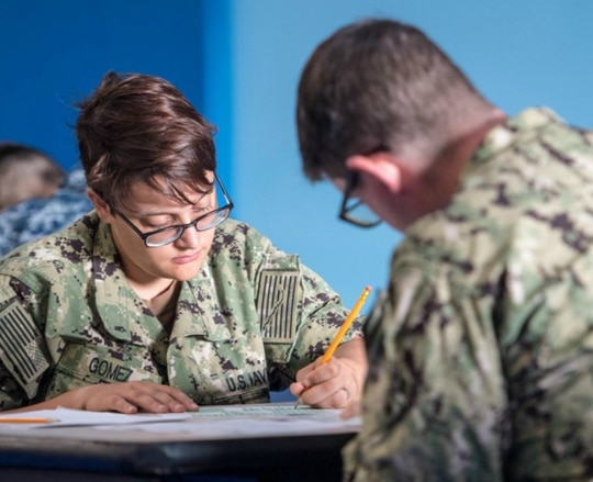The Navy and other services have made recent changes to their tuition assistance rules for active-duty troops. (Mass Communication Specialist 3rd Class Jeremy Laramore/Navy)