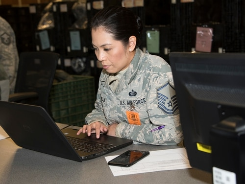 The Department of Defense is trying to build artificial intelligence proficiency in its future workforce to maintain an edge on competitor nations. (Heide Couch/Air Force)