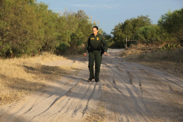 Navy veteran Stephanie Anaya served as a hospital corpsman surgical tech and signed on as a Customs and Border Protection agent after leaving the service in 2007. She said her military background made CBP seem like a natural choice. Courtesy of Customs and Border Protection