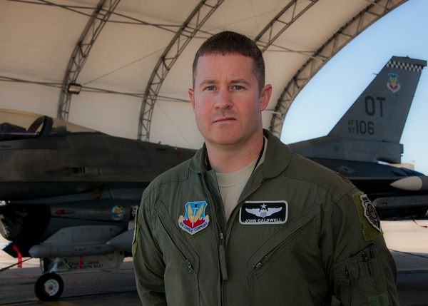 Lt. Col. John Caldwell, of the 85th Test and Evaluation Squadron, was recently selected to helm the Air Force Thunderbirds as Pilot No. 1. (Samuel King Jr./Air Force)