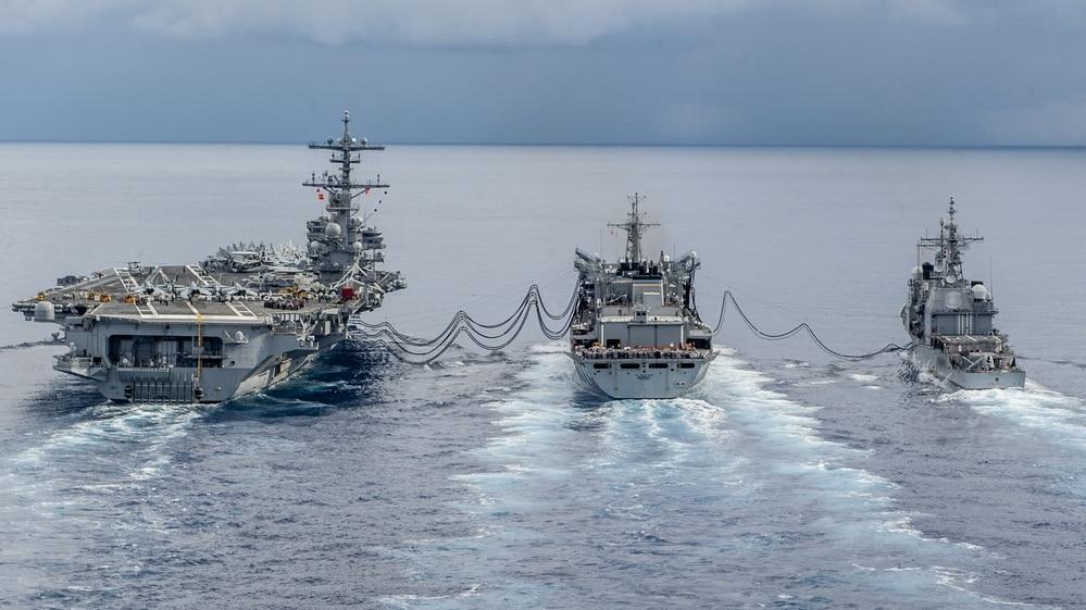 The aircraft carrier USS George H.W. Bush is set to return home (MC3 Michael B. Zingaro/Navy).