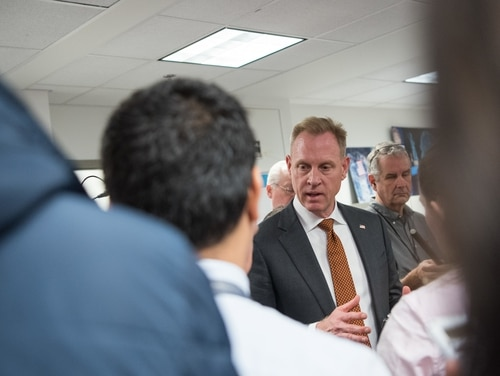 Patrick Shanahan speaks to reporters at the Pentagon on Nov. 15, 2018. (Sgt. Amber I. Smith/U.S. Defense Department)