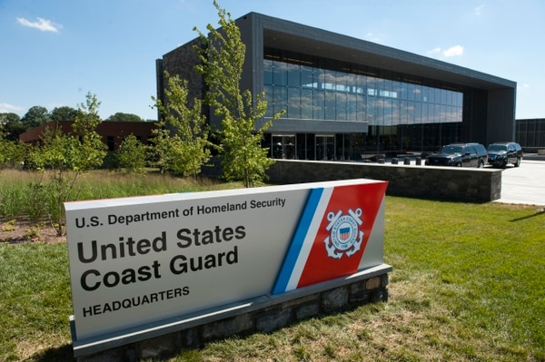 Local and federal officials held a ceremony opening the new U.S. Coast Guard Headquarters on the St. Elizabeths Campus in Washington, D.C., on Monday, July 29, 2013. (Mike Morones/Staff)