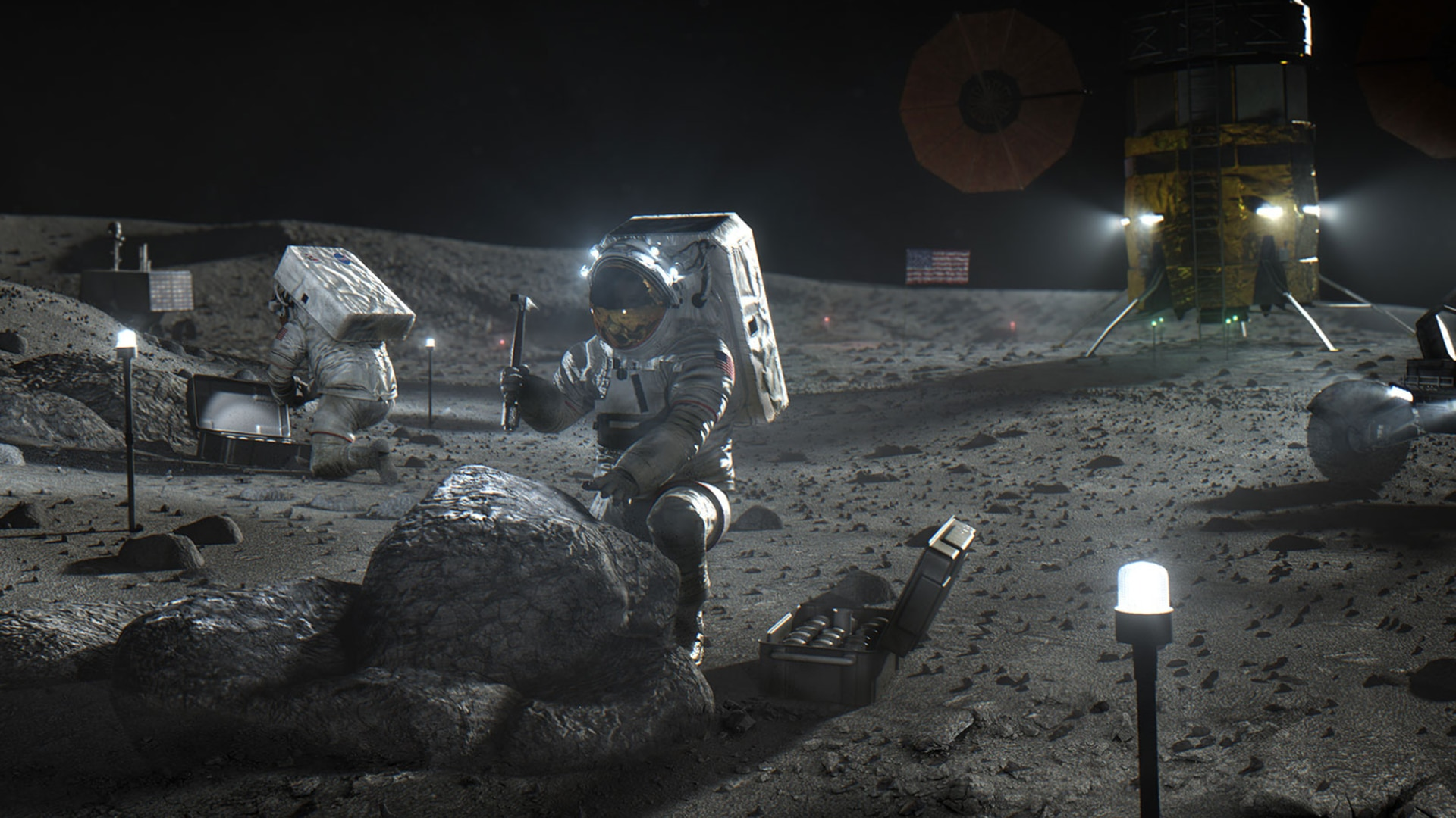NASA's Artemis program plans to have astronauts travelling to the moon for extended stays by 2024. (NASA)