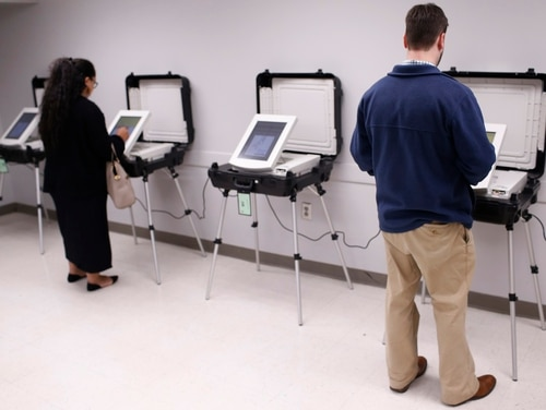 Locals cast their vote in Georgia's runoff election in 2018 at the Lake Park Community Center in Athens, Ga. Several states had their state election networks scanned by Russian-backed hackers. Some even had the chance to modify voter registration data. (Joshua L. Jones/Athens Banner-Herald via AP, File)