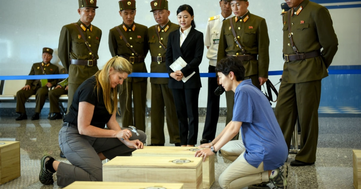 More than two dozen missing Korean war troops just identified from returned remains